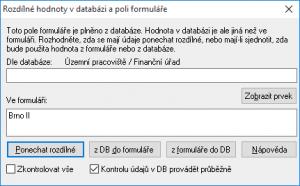 Kontrola údajů